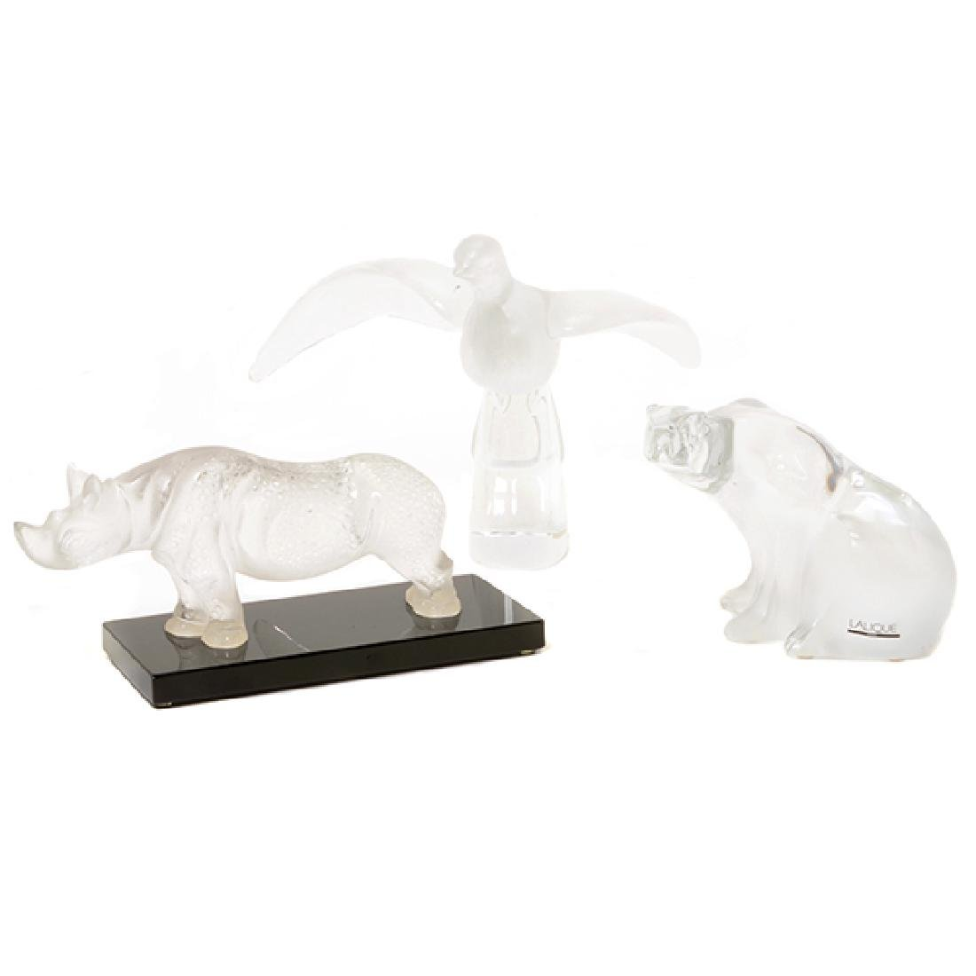 Three Lalique France Animal Figures