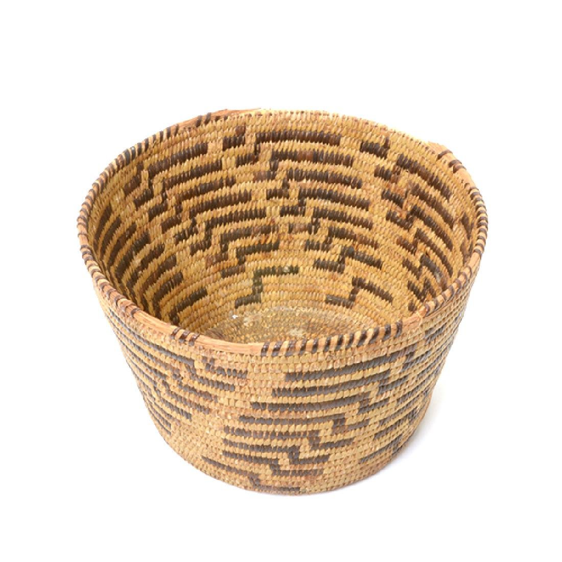 Three Native American Hand Woven Baskets - 5