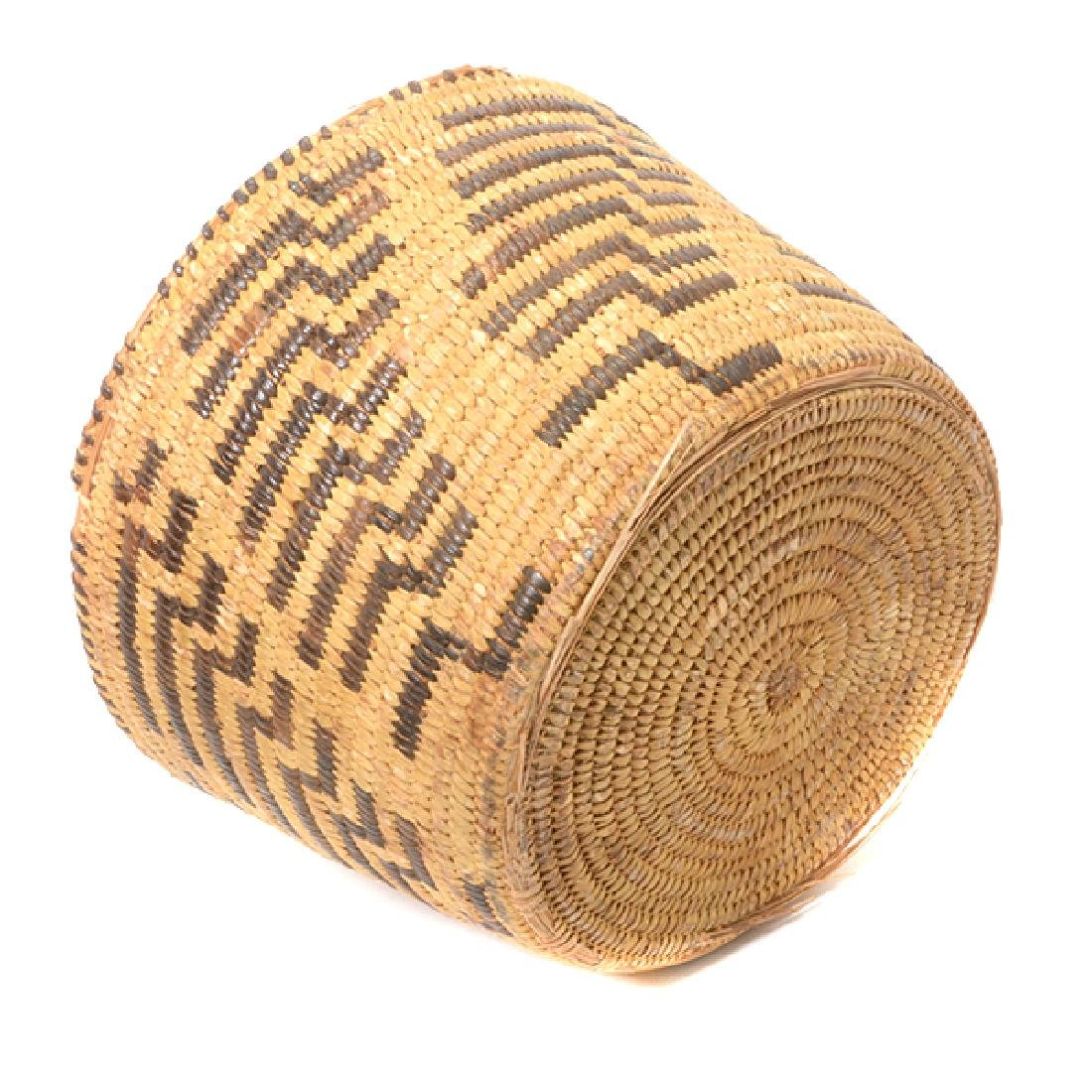 Three Native American Hand Woven Baskets - 6
