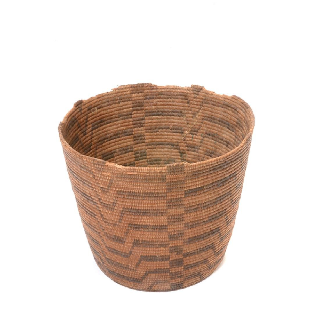 Three Native American Hand Woven Baskets - 7