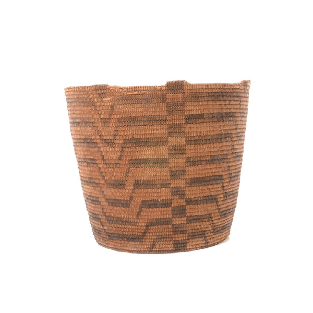 Three Native American Hand Woven Baskets - 8