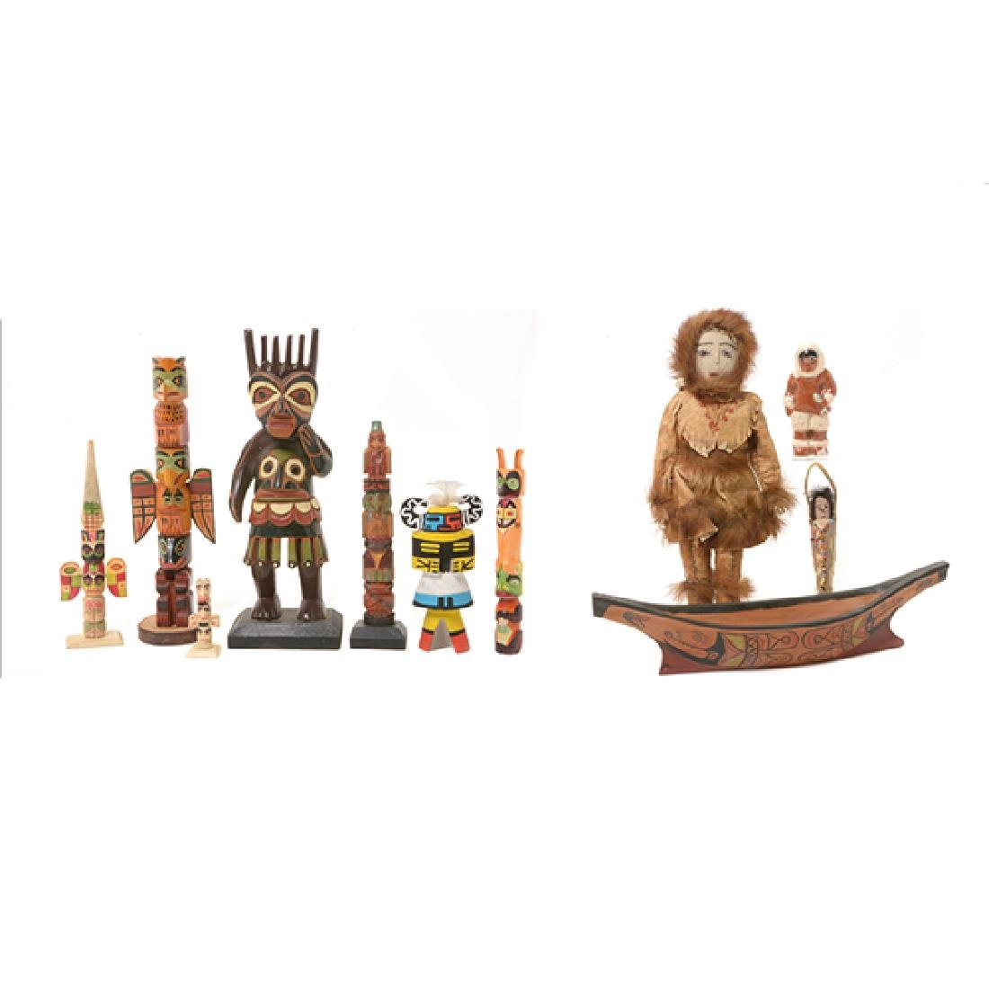 Collection of Eskimo Articles and Totem Poles