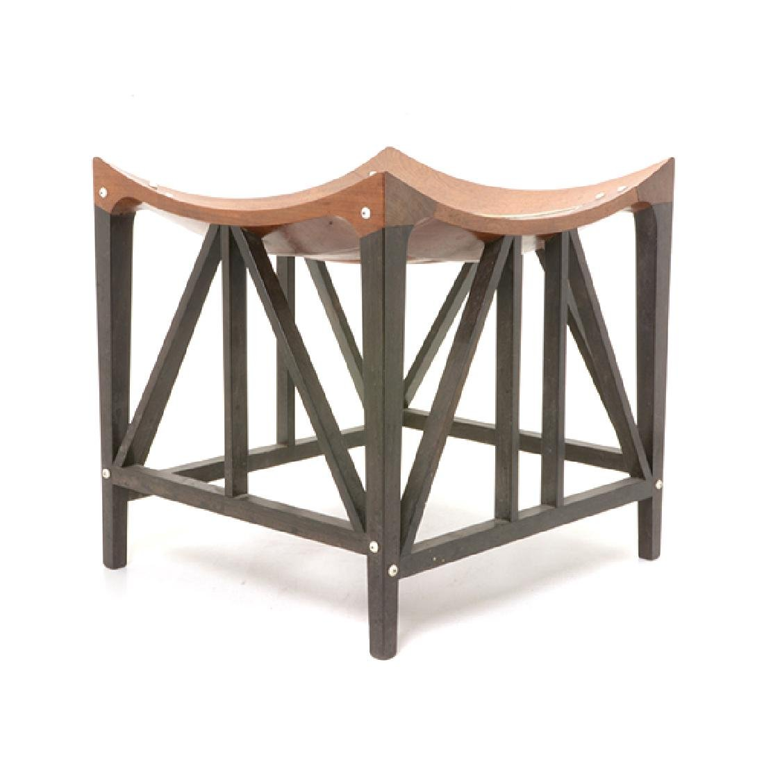 Thebes Stool with Ebony and Ivory Inlay by Liberty & Co - 5