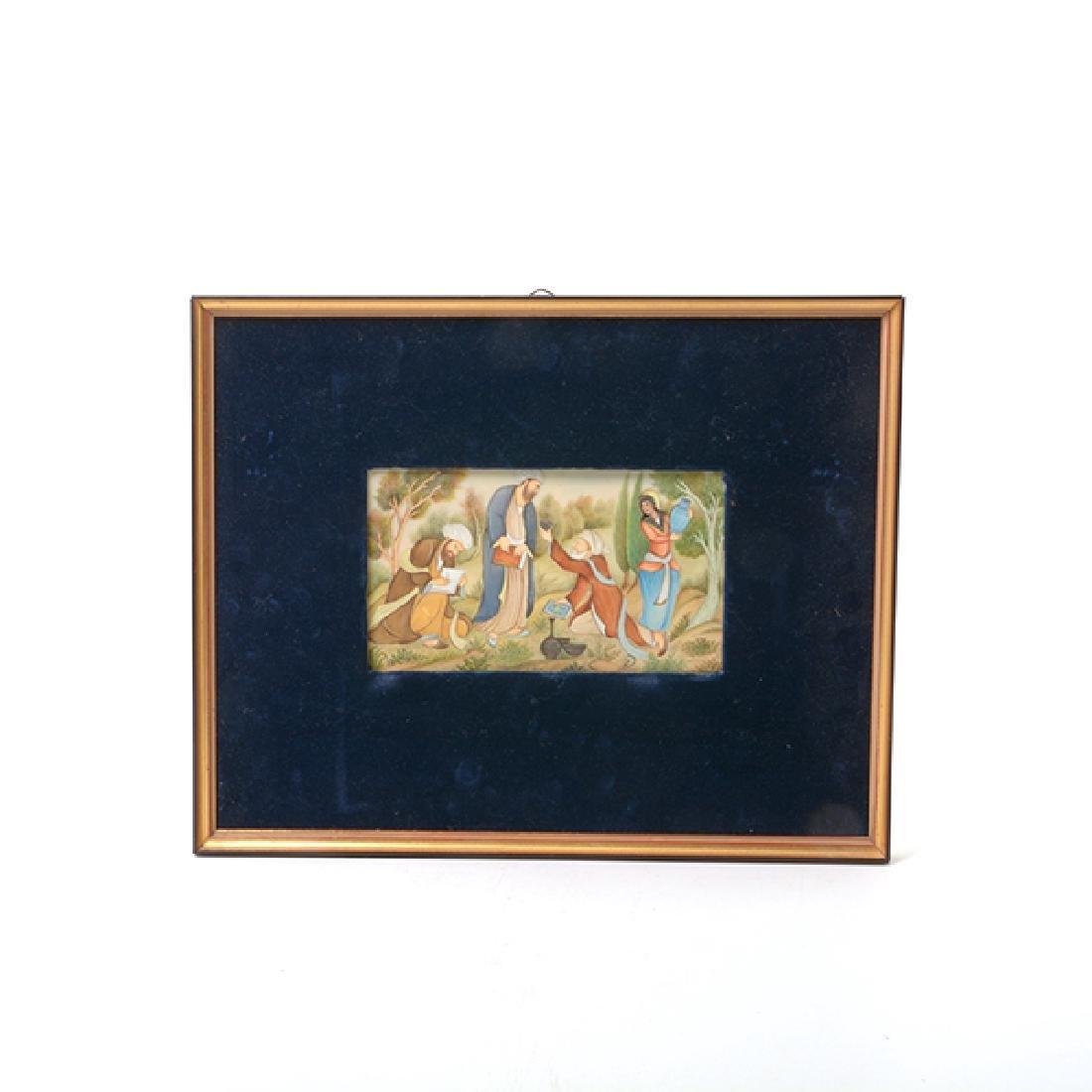 Three Persian Miniature Paintings - 2