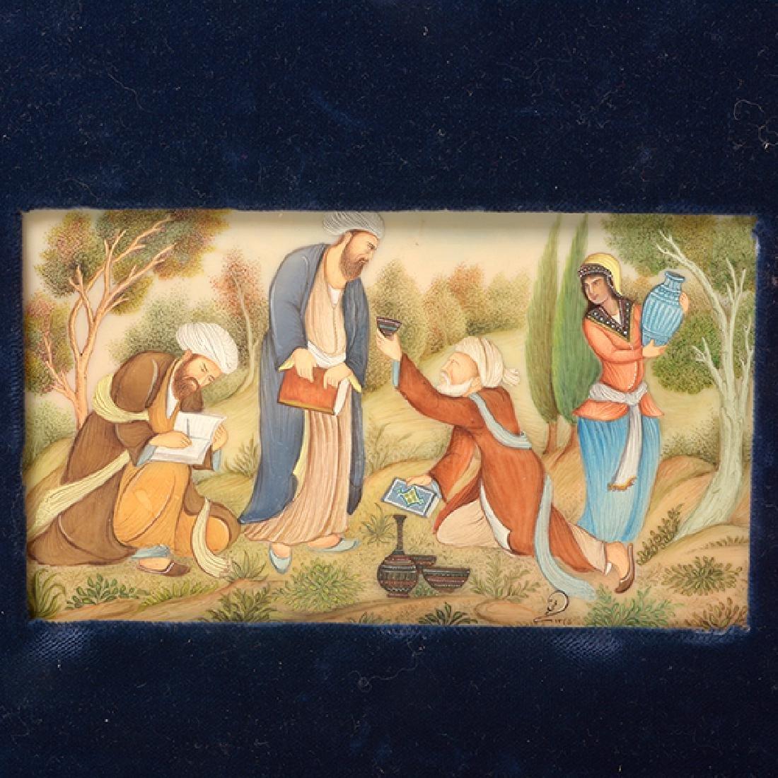 Three Persian Miniature Paintings - 3