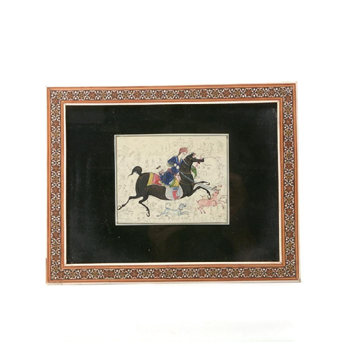 Three Persian Miniature Paintings - 4