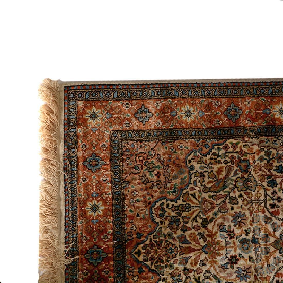 Egyptian Silk Prayer Rug: 2 feet 6 inches x 4 feet 3 - 2
