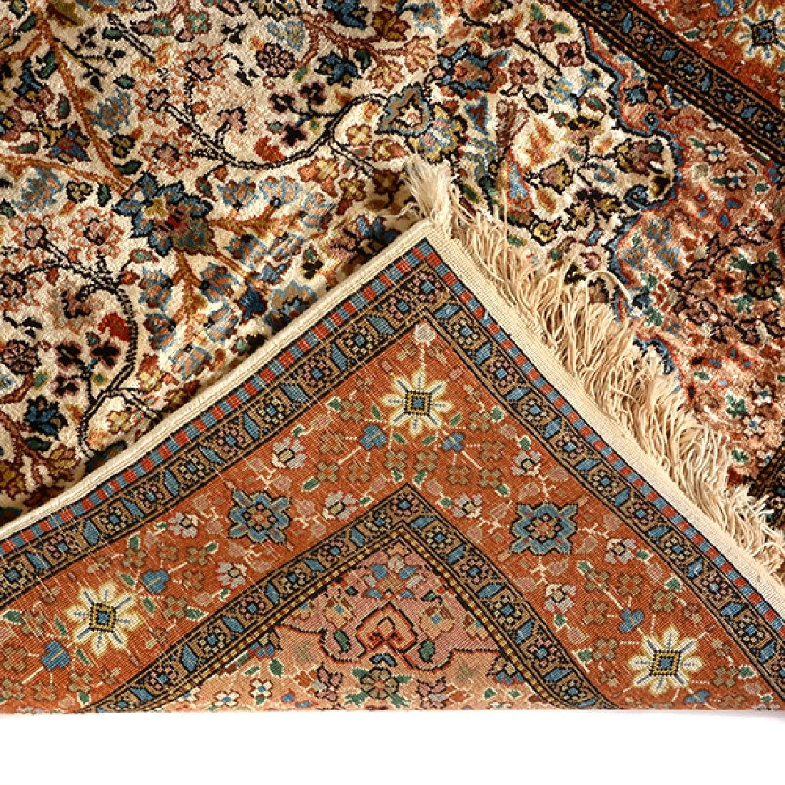 Egyptian Silk Prayer Rug: 2 feet 6 inches x 4 feet 3 - 3