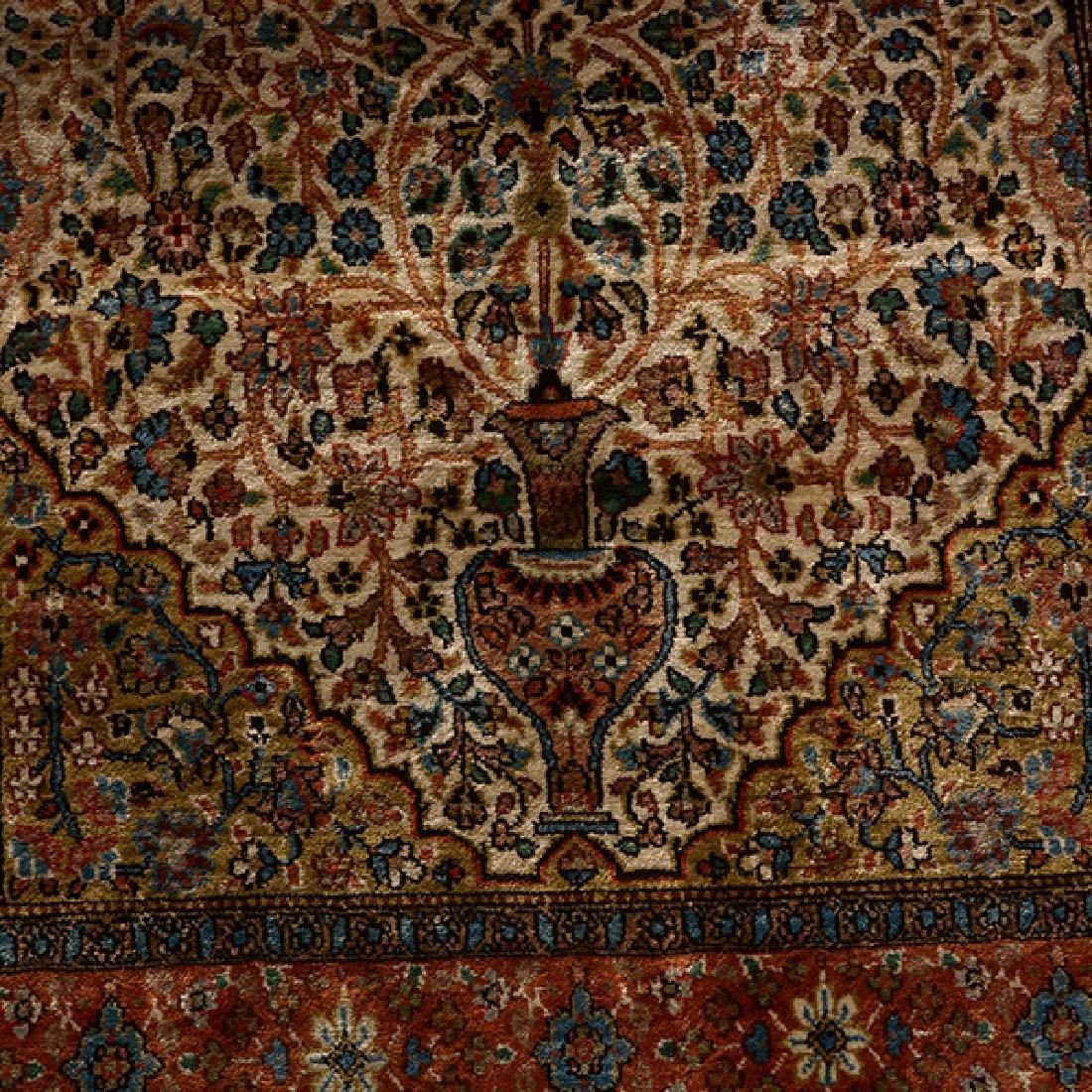 Egyptian Silk Prayer Rug: 2 feet 6 inches x 4 feet 3 - 4