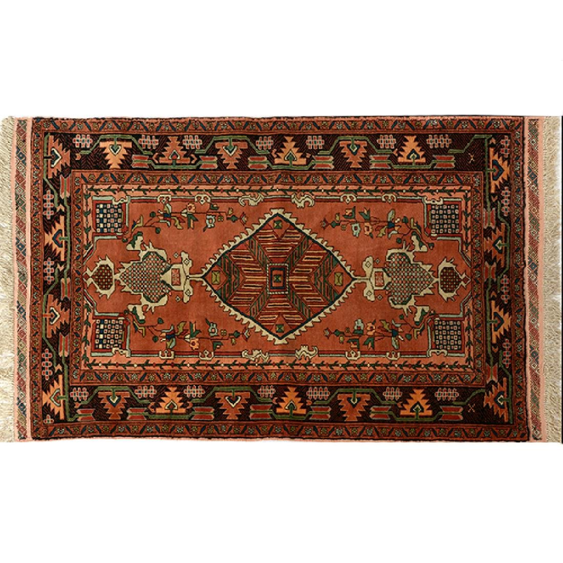 Egyptian Silk Prayer Rug: 2 feet 6 inches x 3 feet 10