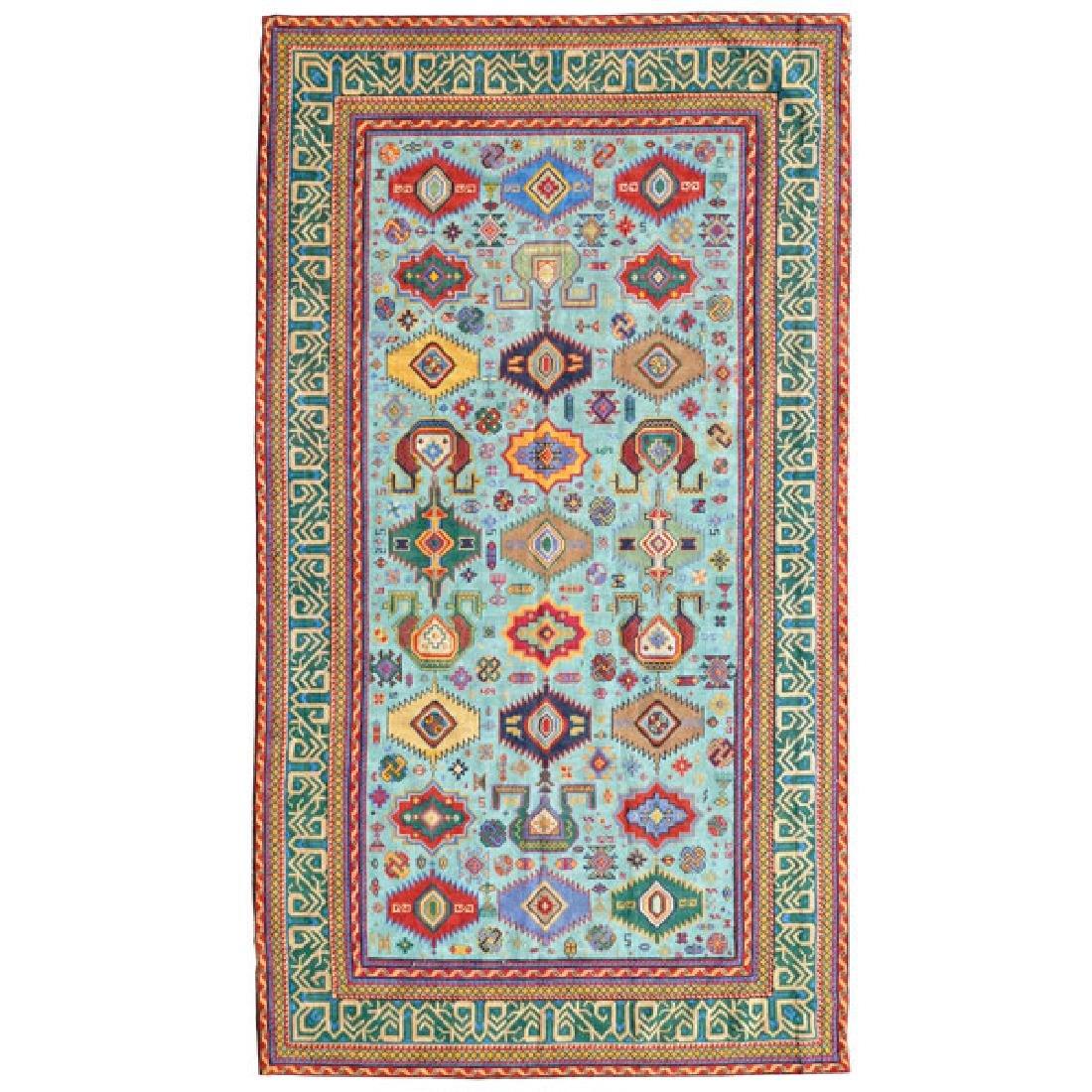 Kazak Souzani Needlework Rug: 4 feet 1 inch x 7 feet