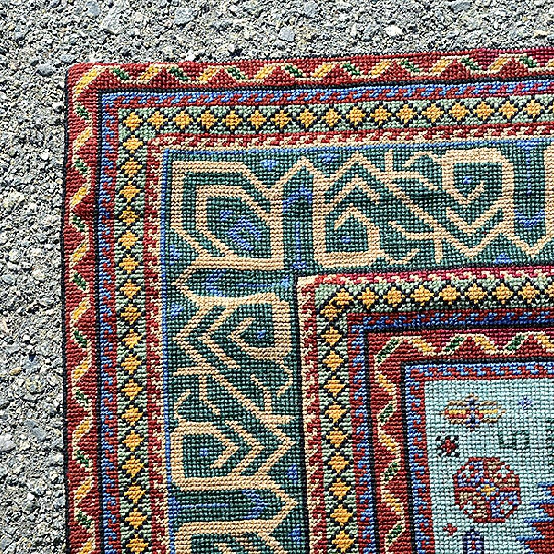 Kazak Souzani Needlework Rug: 4 feet 1 inch x 7 feet - 2