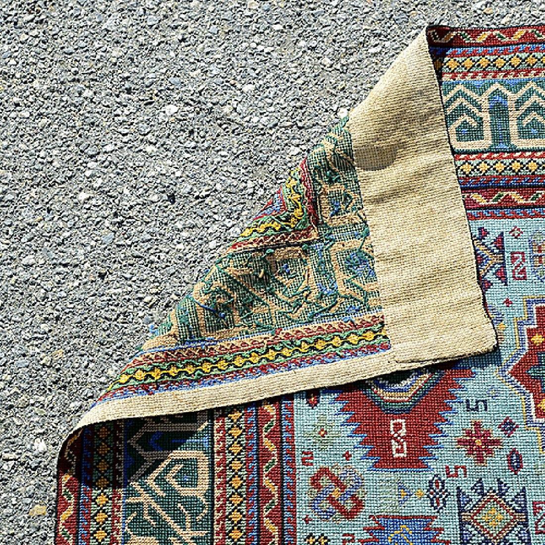 Kazak Souzani Needlework Rug: 4 feet 1 inch x 7 feet - 3