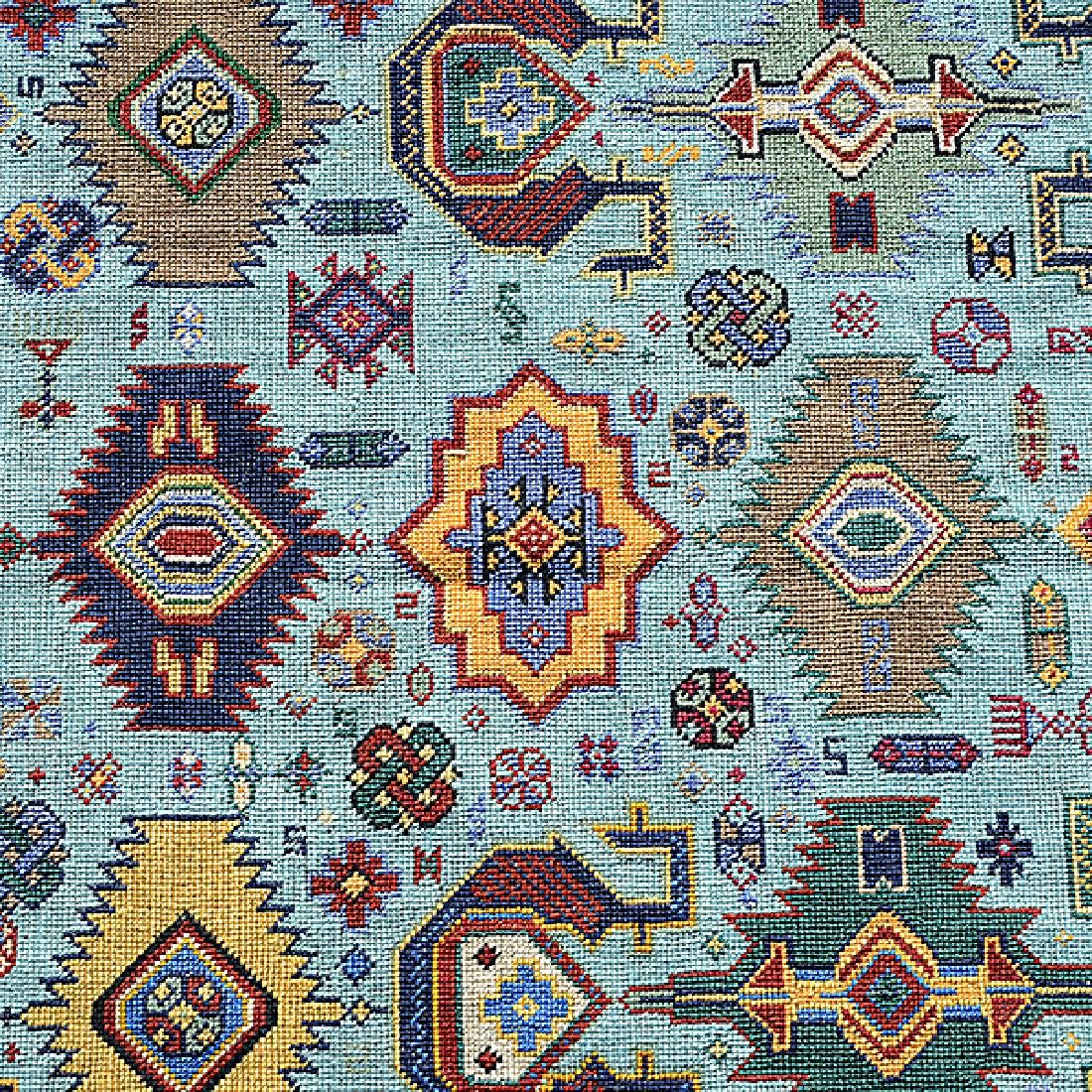 Kazak Souzani Needlework Rug: 4 feet 1 inch x 7 feet - 4