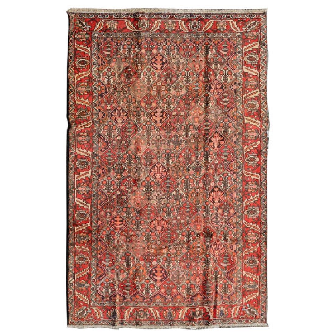 Bakhtiari Carpet: 6 feet 10 inches x 10 feet