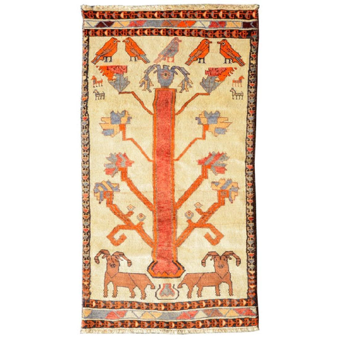 Qashaqai Rug: 3 feet 8 inches x 8 feet 4 inches