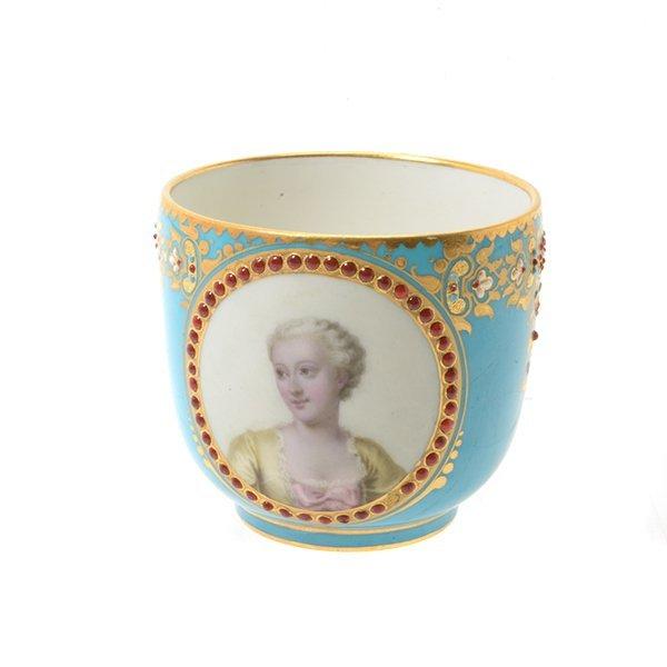 Sevres Celeste Blue Porcelain Cup and Saucer - 2