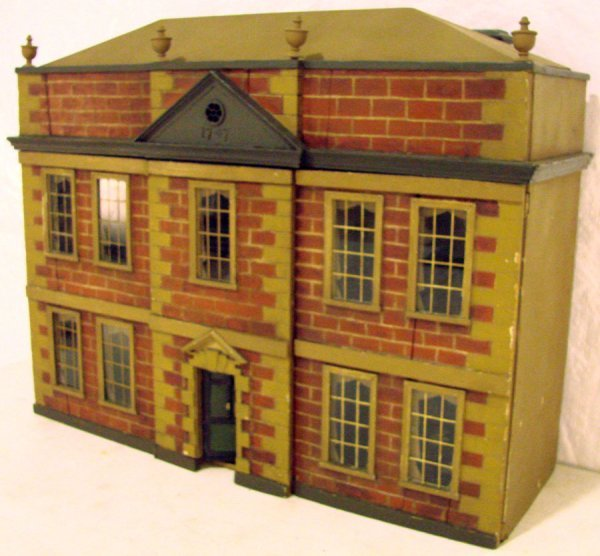 8: Antique Victorian Plantation Style Dollhouse with Al