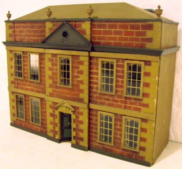 8: Antique Victorian Plantation Style Dollhouse with Al