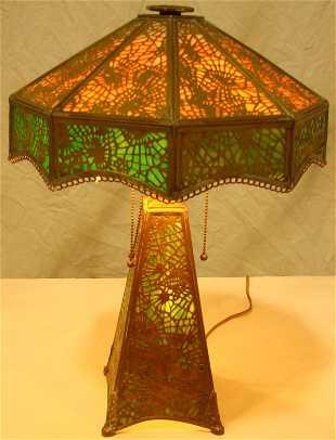 7f06cdcd1cd See Sold Price. 25  Rare Apollo Studios Slag Glass Desk Lamp Tiffany