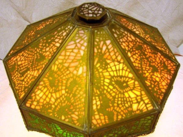 25: Rare  Apollo Studios  Slag Glass Desk Lamp Tiffany  - 3