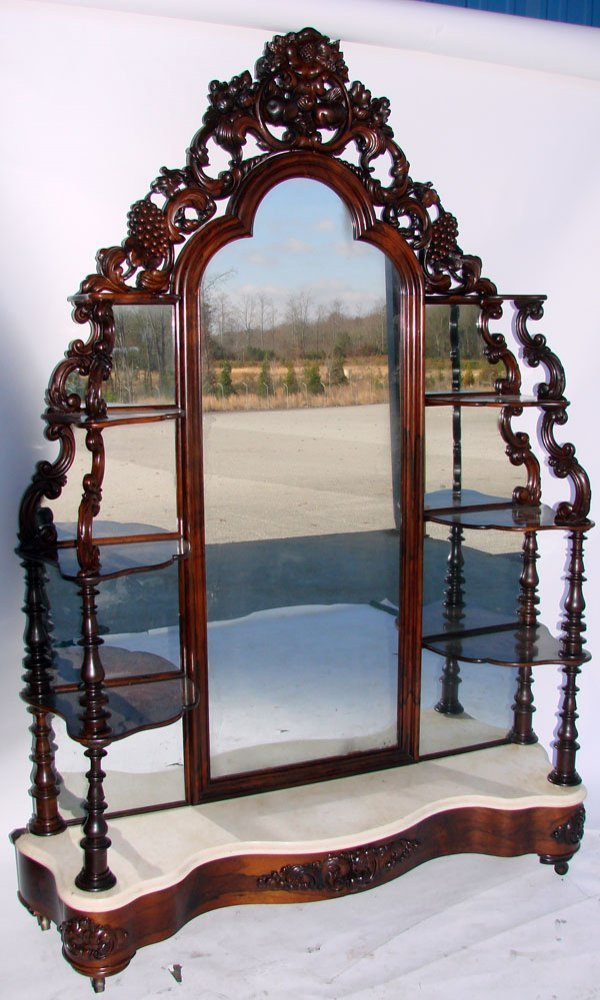 66: Laminated Rosewood Etagere By J.H. Belter