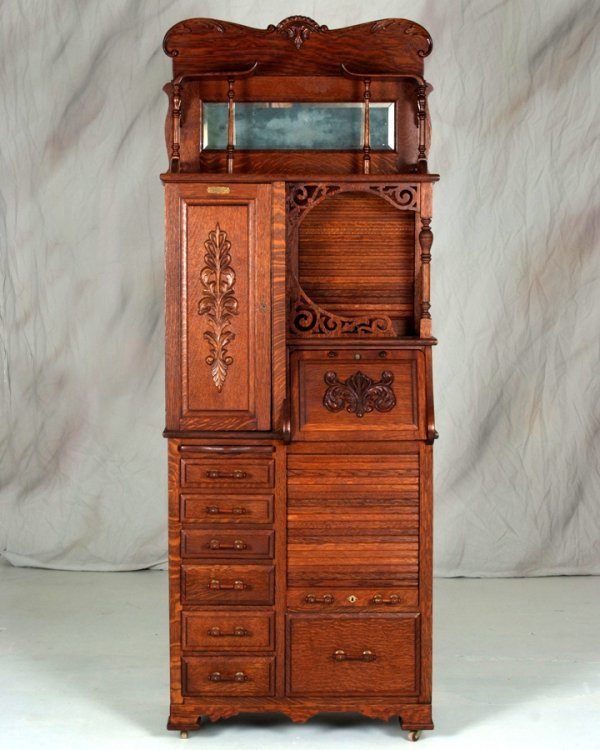 83: Rare Antique Harvard Dental Cabinet made by Harvard
