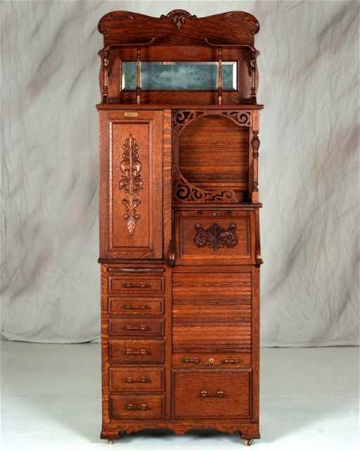 - 83: Rare Antique Harvard Dental Cabinet Made By Harvard