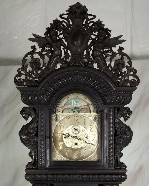 124: Best RJ Horner Nine Tube Griffin Grandfather Clock - 2