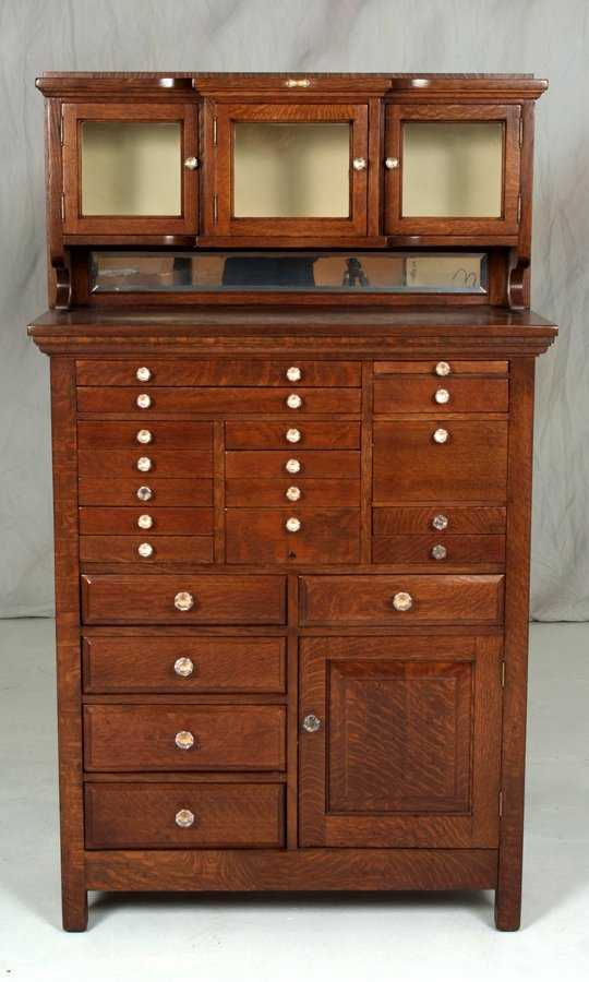- 294: Antique Oak Dental Cabinet Made By The American Ca