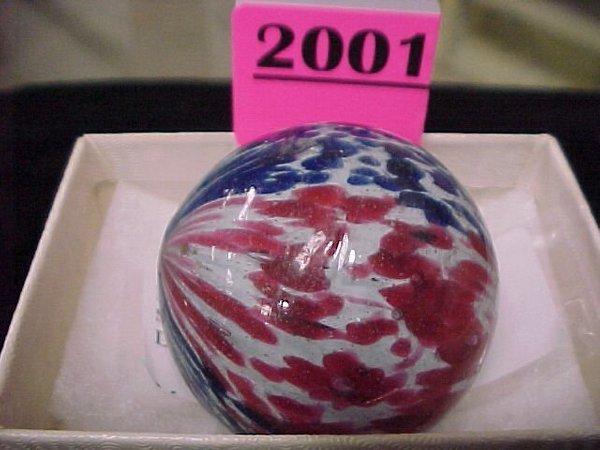 "2001: 1 ¾"" Handmade Onionskin 4 Lobe Marble"