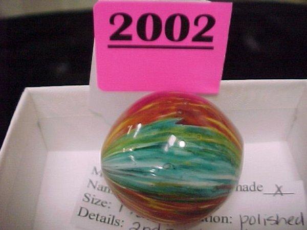 "2002: 1 3/8"" Handmade Onionskin Marble"