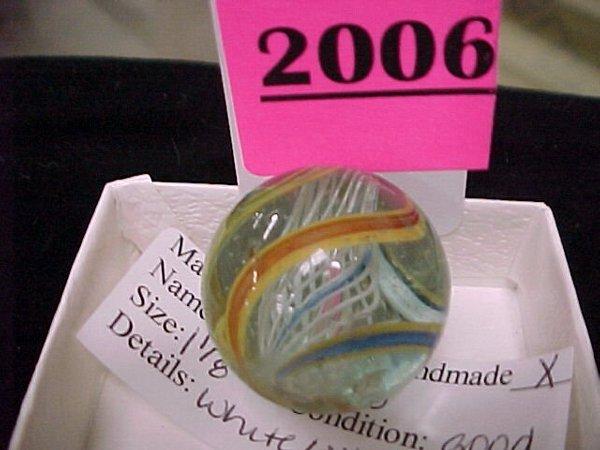 "2006: 1 1/8"" Handmade Latticino Marble"