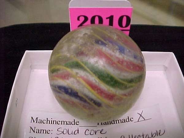 """2010: 1 ¾"""" Handmade Solid Core Marble"""