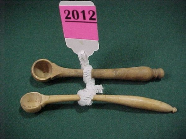 2012: Group of 2 Wooden Dosage Spoons