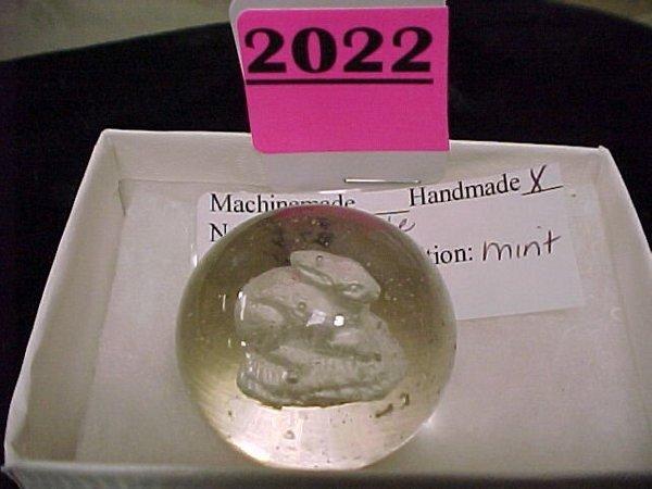 """2022: 1 ½"""" Handmade Sulfide Marble"""