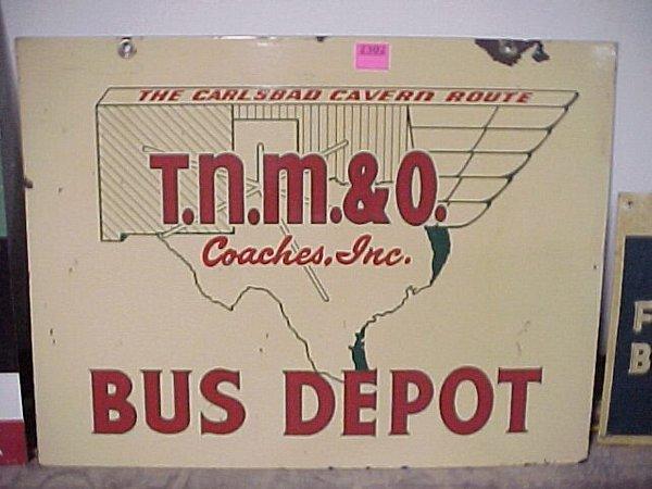 """2302: 18""""x24"""" Porcelain Enamel Bus Sign"""