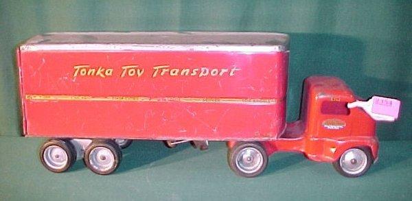2364: 1959 Tonka Dual Wheel Stake Trailer