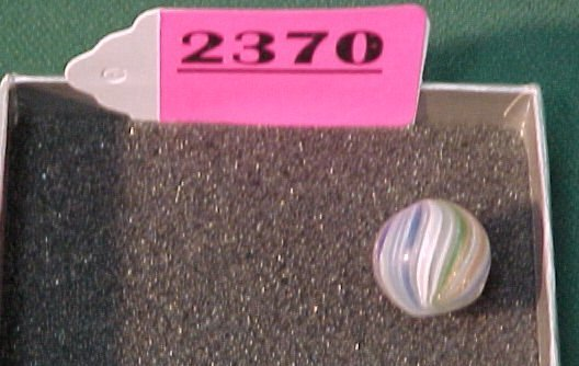 """2370: 19/32"""" Hand Made Onion Skin Marble"""