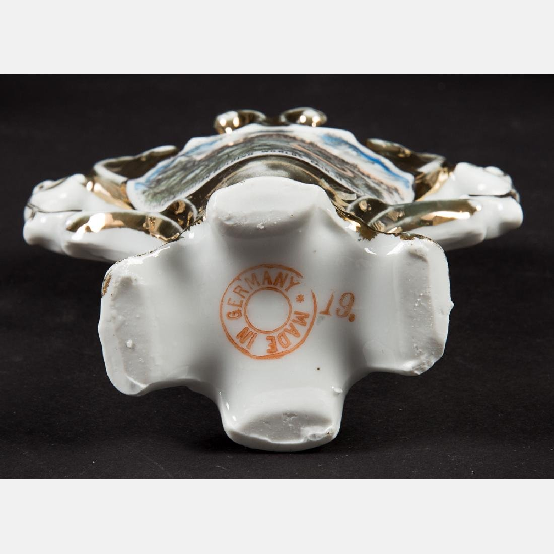 A Group of Six Porcelain Souvenirs from the Louisiana - 5