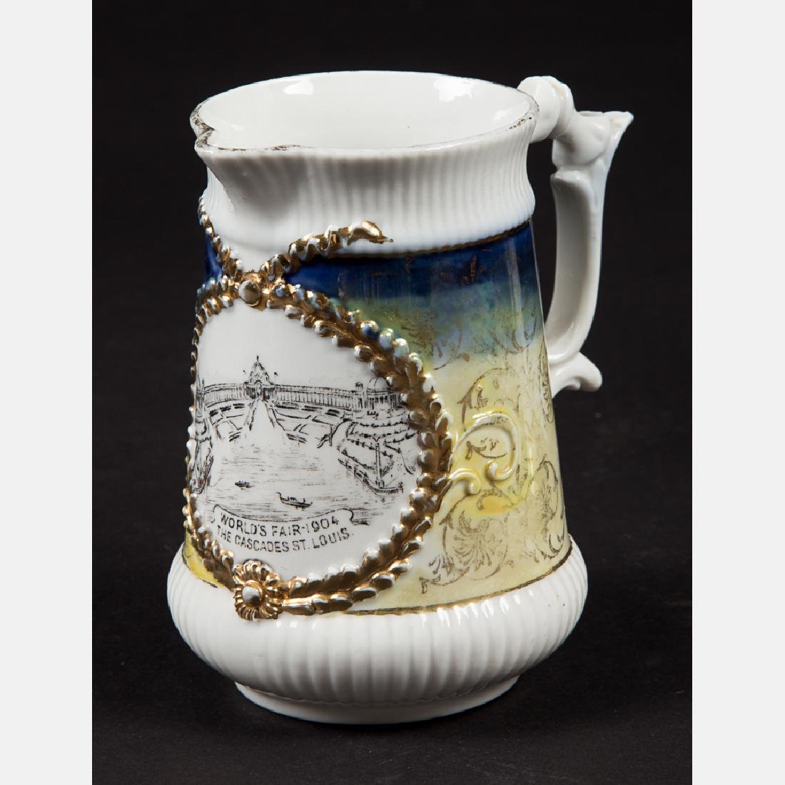 A Group of Six Porcelain Souvenirs from the Louisiana - 6