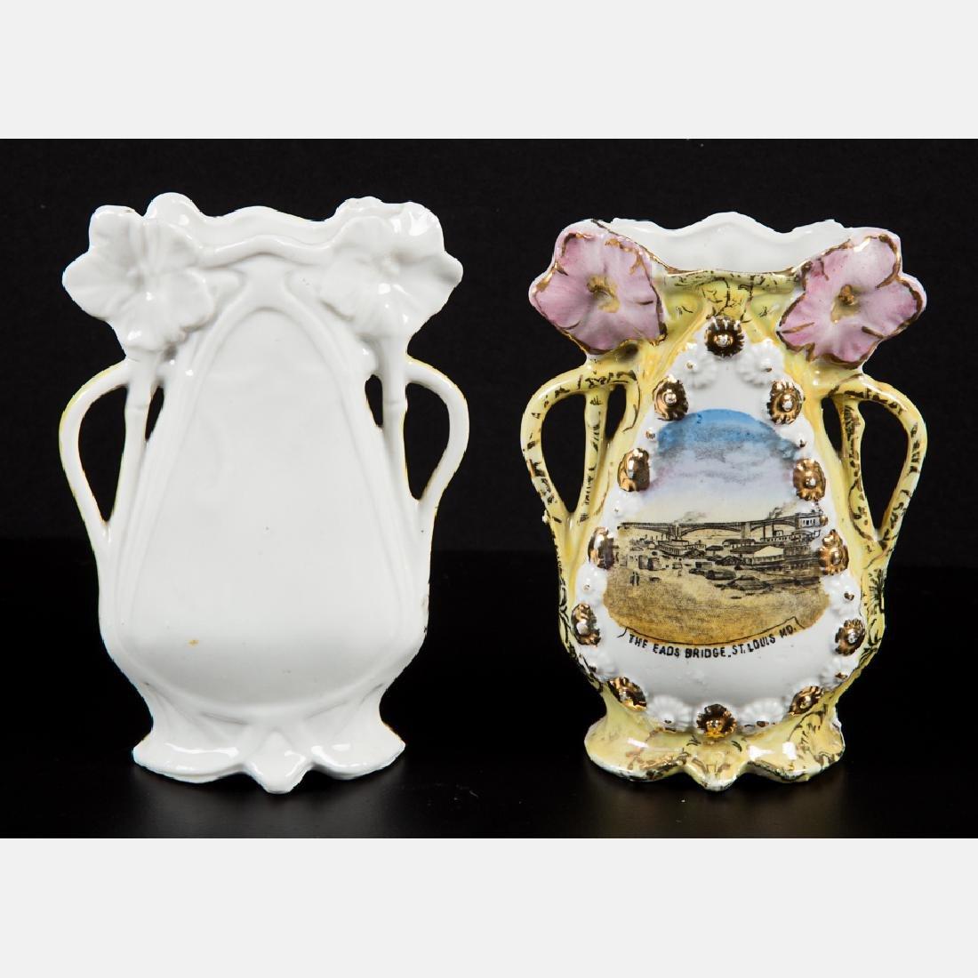 A Group of Five Porcelain Lustreware Decorative Items - 4