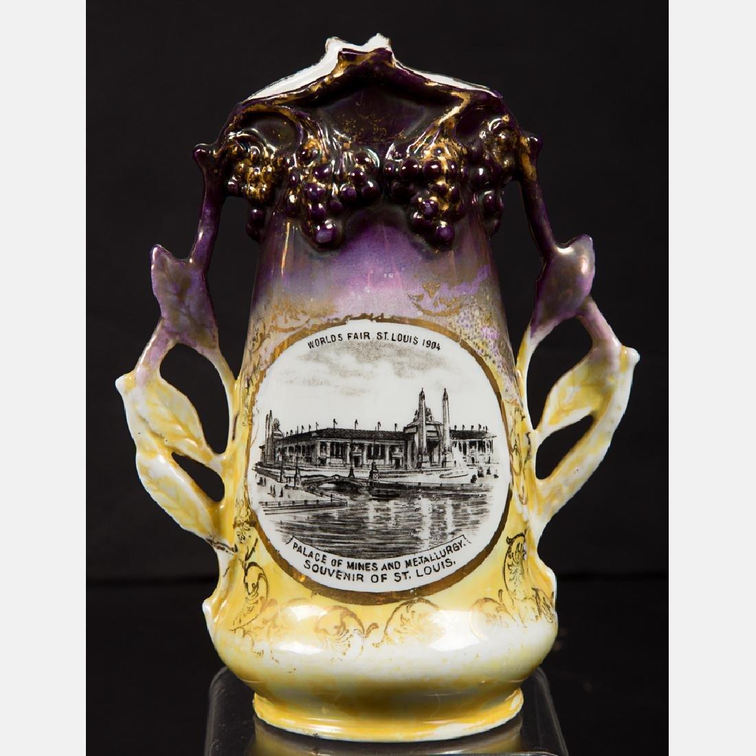A Group of Four Porcelain Lustreware Decorative Items - 5