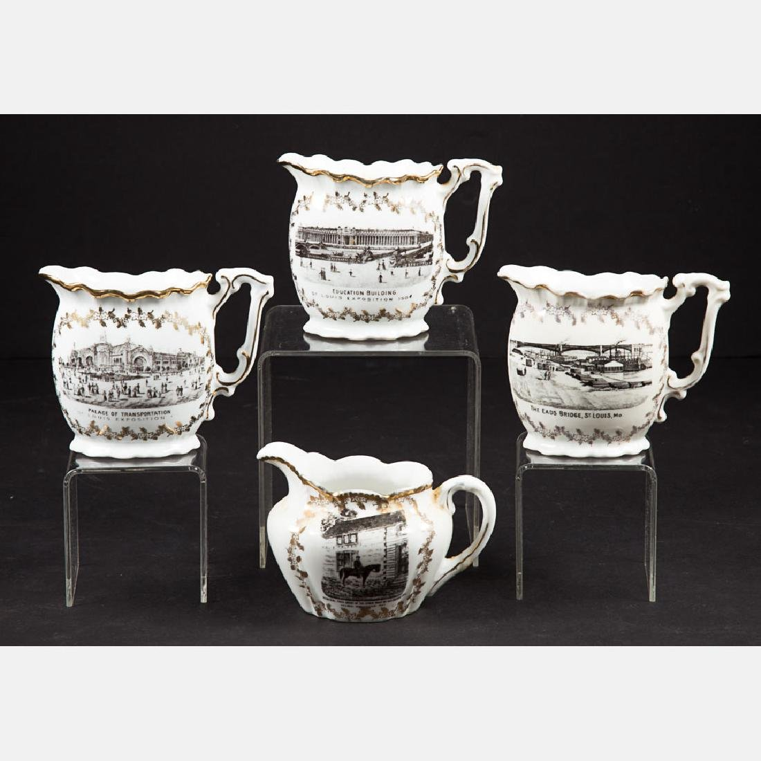 A Group of Four Victoria Carlsbad Austria Porcelain