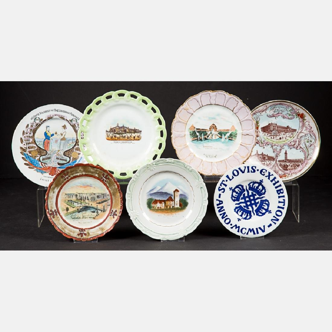 A Miscellaneous Collection of Seven Porcelain Souvenir