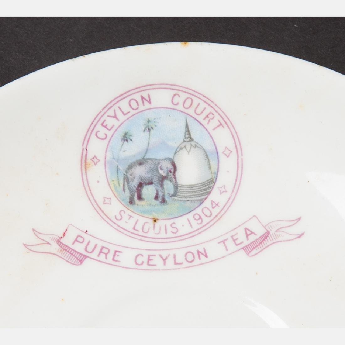 An Eight Piece Ceylon Court Porcelain Tea Set from the - 6