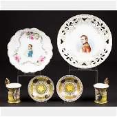 A Miscellaneous Collection of Six Porcelain Serving