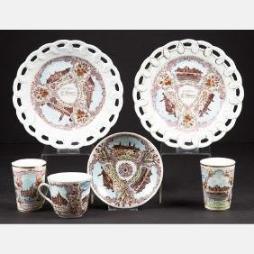 A Group of Six Victoria Carlsbad Austria Porcelain