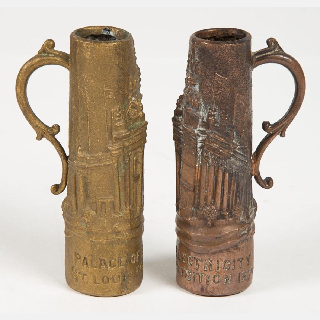 A Group of Six Base Metal Tankards and Steins from the - 9