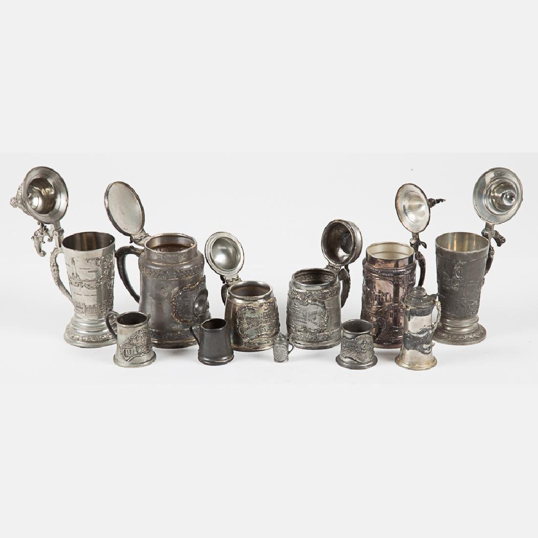 A Miscellaneous Collection of Eleven Silver Plated - 5